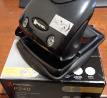 Marbig Rexel P240 Black 2 Hole Punch