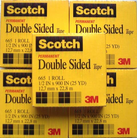 Scotch 665 12.7mm x 22.8M Roll Double Sided Tape