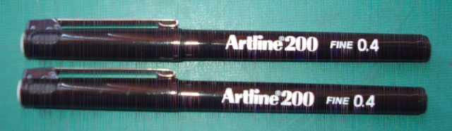 Artline 200 0.4mm Black Fineliner 120001 Box 12