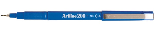 Artline 200 0.4mm Blue Fineliner 120003 Box 12