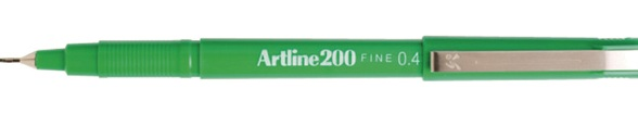 Artline 200 0.4mm Green Fineliner 120004 Box 12