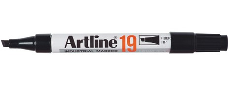 Artline 19 Industrial Marker Black 119001 Permanent Ink Box 12