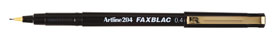 Artline 204 0.4mm Fax Black 120401 Box 12