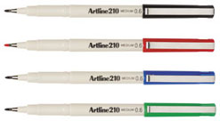Artline 210 0.6mm Fineliner Assorted 121041 Box 12