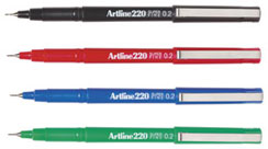 Artline 220 0.2mm Fineliner Pen Blue 122003 Box 12