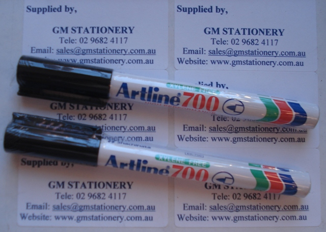 Artline 700 Black Marker 170001 Box 12 Permanent Ink