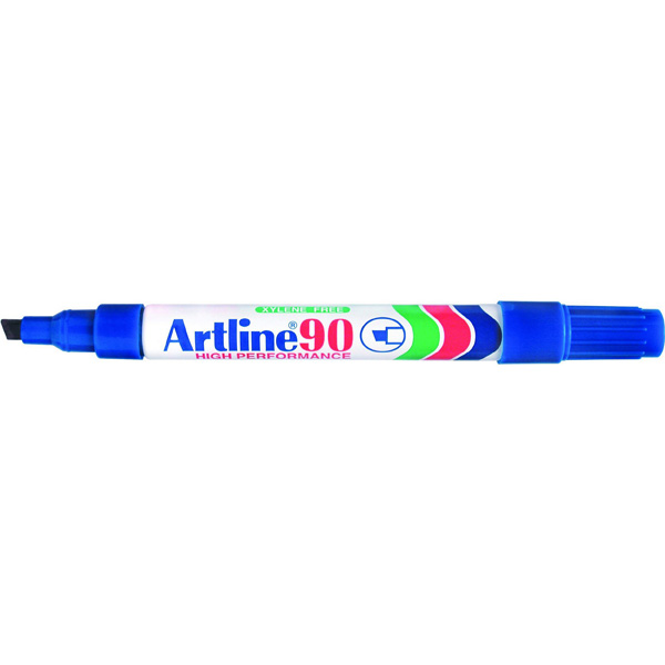 Artline 109003 90 Blue Permanent Markers Box 12