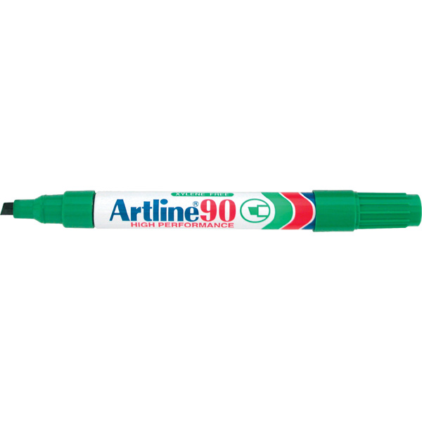 Artline 109004 90 Green Permanent Markers Box 12