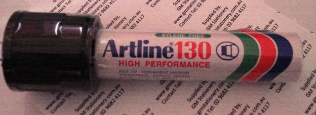 Artline 130 30mm Maker Black Permanent Ink 113001