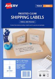 Avery- CLEAR INKJET LABELS