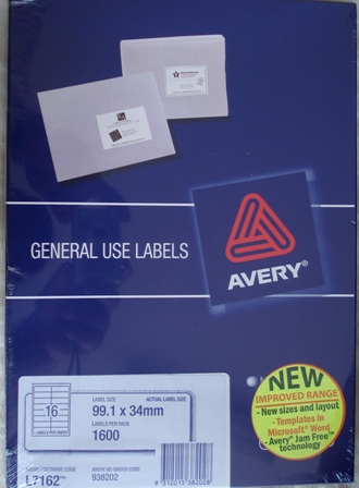 AVERY- GENERAL USE LASER LABELS