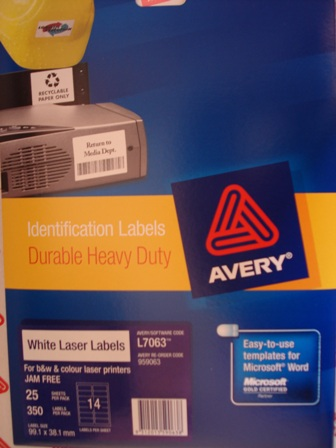 AVERY- HEAVY DUTY LABELS