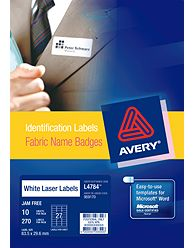 AVERY- FABRIC NAME BADGE LABEL