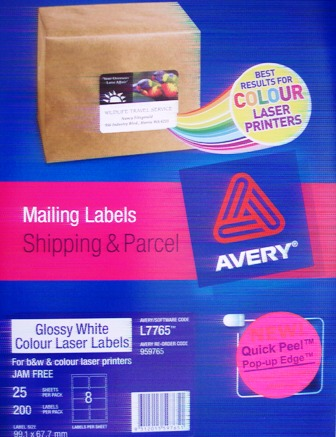 Avery 959765 Parcel Label White 99.1 x 67.7mm L7765-25