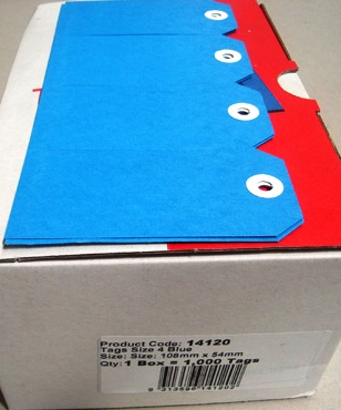 Avery 14120 Shipping Tags Size 4 Blue 108 x 54mm Box 1000