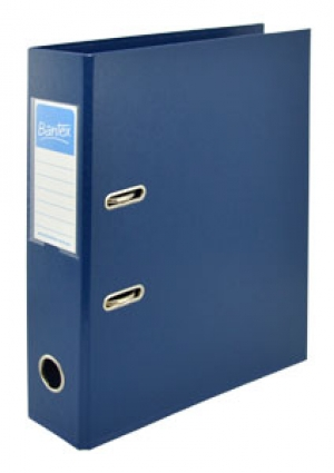 Bantex A4 70mm PVC Lever Arch File Blue 1450-01