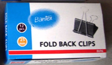 Bantex 8696 25mm No 2 Foldback Clips Box 12