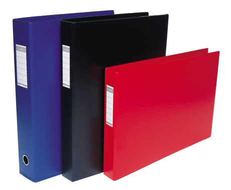 Bantex 1267-201 A3 38mm 2D Ring Binder Blue Upright