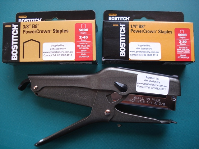 Bostitch 02245 B8 Plier Power Crown Stapler STCR2115
