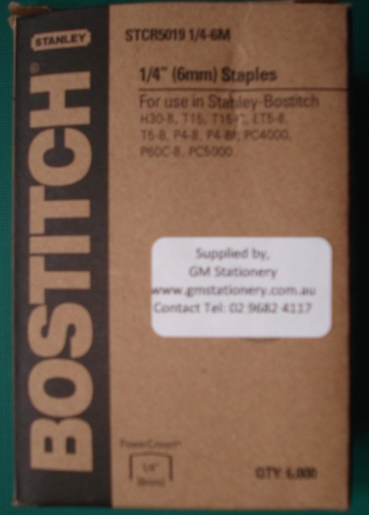 BOSTITCH STCR5019 - T15C STAPLES