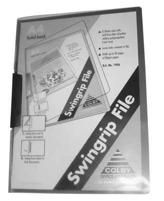Colby 190A Black Swingrip File A4 30 Sheet Capacity