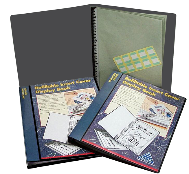 Colby 252A 20 Pocket A4 Insert Front Refillable Display Book