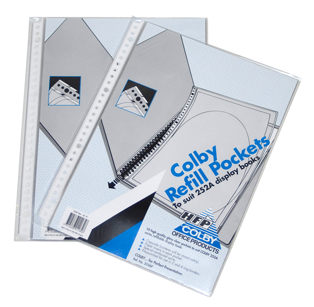 Colby 252AP A4 Refill Pockets 10 pack