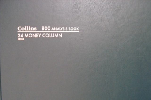 Collins 13238 800 24 Money Column Account Analysis Book 96 Leaf