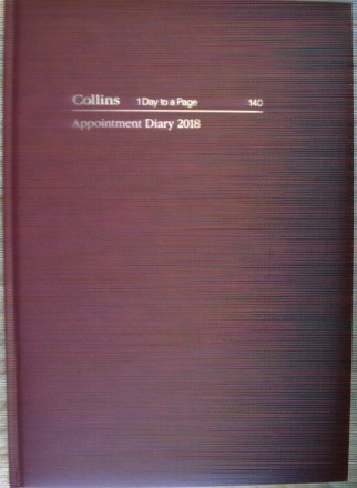 Collins 140 2018 Appointment Diary A4 1 Day To A Page 15 Mins