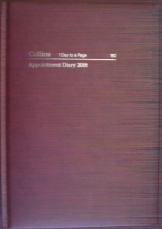 Collins 180 2018 Appointment Diary A5 Day to a Page 1/2 Hour
