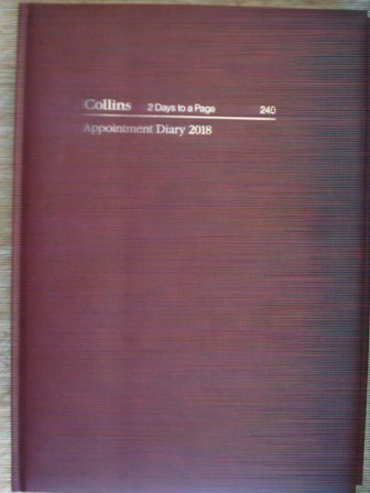 Collins 240 2018 Appointment Diary A4 2 Days to a Page 30 Mins