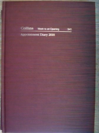 Collins 340 2018 Appointment Diary A4 Week to a View 1 Hour