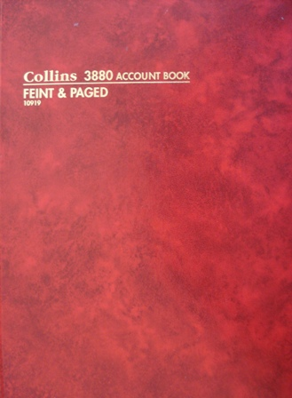 Collins 10919 3880 Feint & Paged Account Book 84 leaf A4