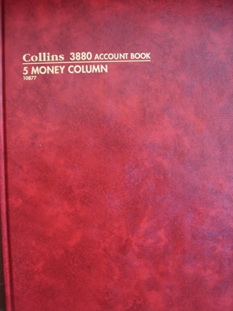 Collins 10877 3880 5 Money Column Account Book 84 leaf A4 Red