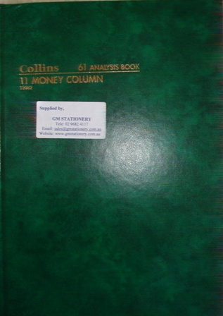 Collins 13082 61 11 Money Column Analysis Book 84 leaf A4
