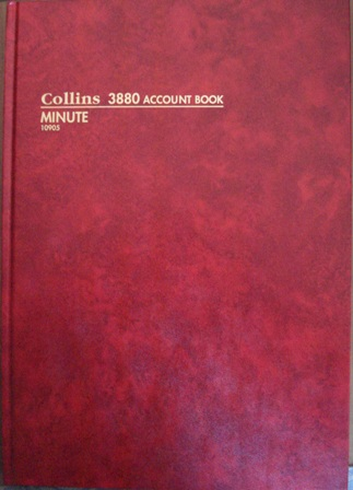 Collins 10905 3880 Minute Account Book 84 leaf A4 Hard Cover