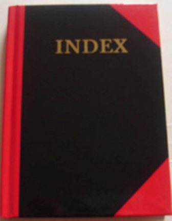 Collins 6101 A6 Red & Black Indexed 100 Leaf Note Book