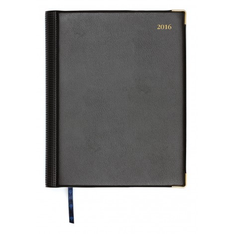 Debden 1191-V99 2018 Diary Elite A4 Short Executive Day Black