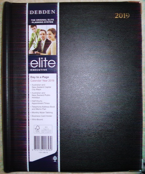 Debden 1191-V99 2020 Diary Elite A4 Short Executive Day Black