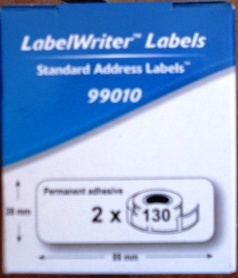 Dymo SD99010 Labelwriter Label 89x28mm 2 rolls per Box