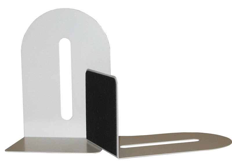 Colby KW221 White Metal BookEnds Set 225mm High with 110mm Foot
