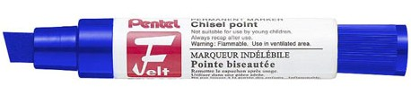 pentel M180C Blue Chisel Point Markers Permanent Ink Box 6