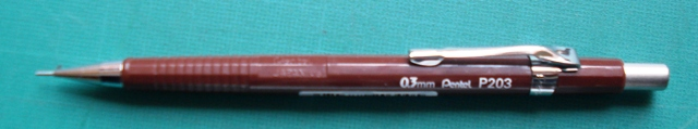 Pentel P203 0.3mm Auto Drafting Pencil Bronze - Free shipping.