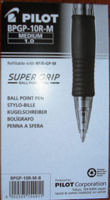 Pilot 623140 BPGP-10R-M Med Point Retractable Pen Black Box 12