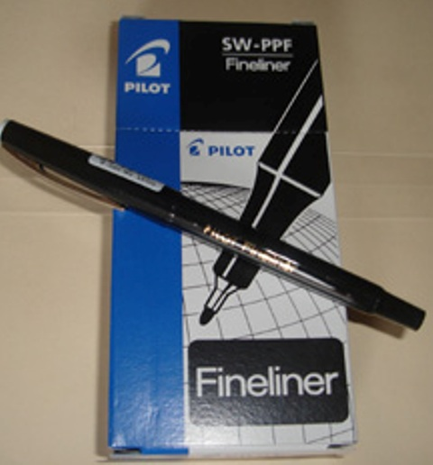Pilot 600401 Fineliner SWPP Black Pen Box 12