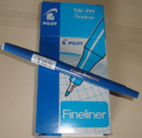 Pilot 600402 Fineliner SWPP Blue Pen Box 12