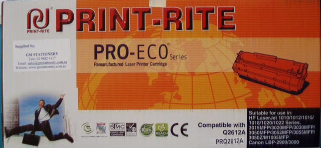 Print - Rite Q2612A Toner Cartridge Black