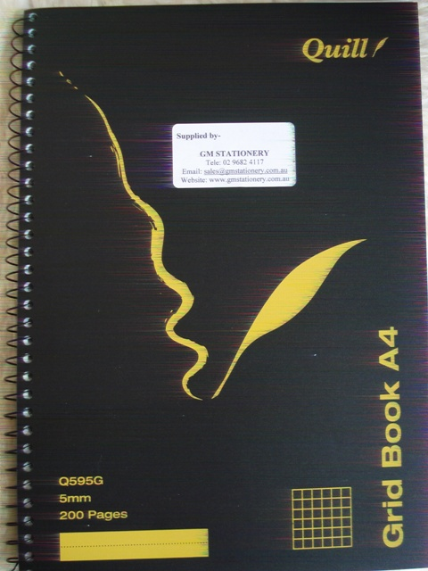 Quill Q595G 5mm Grid Book Spiral Bound A4 200 pages 10525 Pkt 5