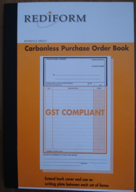 Rediform SRB201 Purchase Order Book Duplicate Carbonless PKT 5