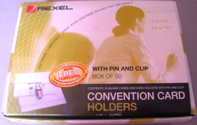 Rexel 90050 Convention Name Badge Pin & Clip Box 50